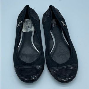 Coach Fabric and Sequin Ballet Flats Authentic